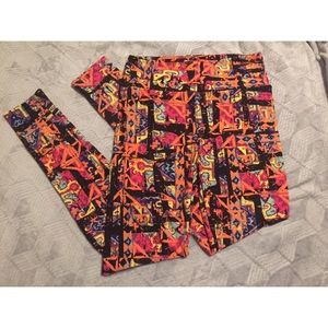Colorful LulaRoe Leggings